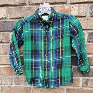 The Children's Place Plaid Button Down Shirt 4T